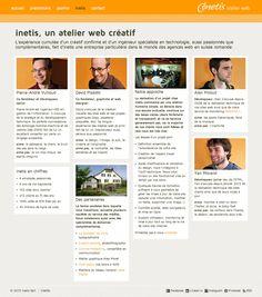 inetis website - Presentation page
