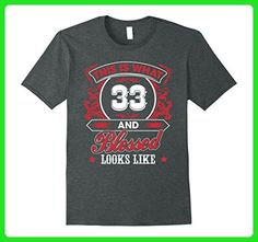 Mens Funny Gift For 33 Years old - Born 1984 Meaning Birthday 2XL Dark Heather - Birthday shirts (*Amazon Partner-Link)