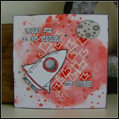Valentine Card using Stampotique stamps :)