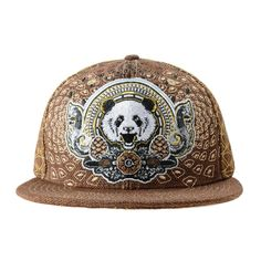 Third Eye Pinecone Panda Brown Fitted #Brown #cf-size-7 #cf-size-7-1-2