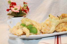 ricetta fiori di zucchina in tempura ripieni di gorgonzola dolce dop e melone mantovano igp
