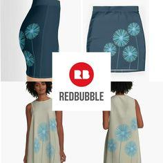 Art by Cherie Roe Dirksen.  #agapanthus #skirts #miniskirts #alinedresses #dresses #fashion2020 #cherieroedirksenart