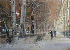 Peto Poghosyan__watercolor paintings_city-art_акварель_город
