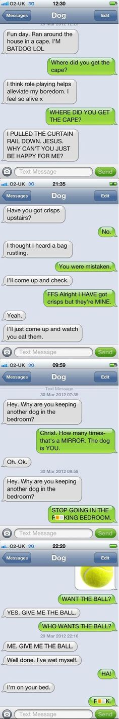 Just texting my dog  LOL