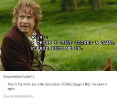 (Tolkien - Lord of Rings, Fellowship, Two Towers, Ring of the King, Hobbit) Baggins Bilbo, Rings Tumblr, O Hobbit, Hobbit Funny, Legolas Funny, The Hobbit Movies, J. R. R. Tolkien, Fangirl, Into The West