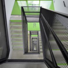 stairs green architecture archdaily http://www.archdaily.com/280195/basket-apartments-in-paris-ofis-architects/