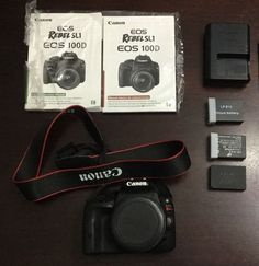 Canon EOS Rebel SL1 18.0 MP SLR Camera body extra batteries  Low Shutter Count