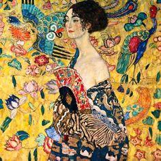 グスタフ・クリムト「扇子を持つ婦人」(1917-18)  Gstav Klimt - Dame mit Fächer #ウィーン分離派