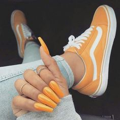 100 best stunning coffin nails ideas ♥ with different color page page 23 Vans Sneakers, Vans Shoes, Sneakers Fashion, Converse, Fashion Outfits, Shoe Nails, Coffin Nails, Aesthetic Shoes, Fresh Shoes