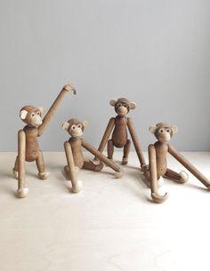mid century wood monkey / no 1 by ohalbatross on Etsy,