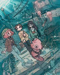 Digital artist Carles Dalmau - Illustration and Art Education Art Inspo, Kunst Inspo, Inspiration Art, Cartoon Art Styles, Cute Art Styles, Art Anime, Anime Kunst, Art And Illustration, Arte Indie