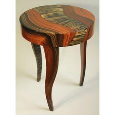 Grant Noren Tiger River Round Table, Artistic Artisan Designer Tables