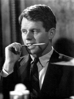 Bobby Kennedy giving the look. The look that meant he was going to shred you into a million pieces.