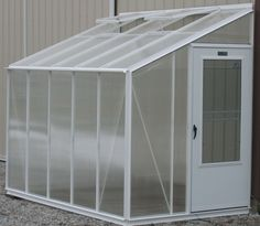 Love this greenhouse idea...great way to save backyard space and still have an extra place to grow!
