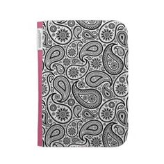 Black And White Vintage Paisley Pattern Kindle 3G Cases from artOnWear