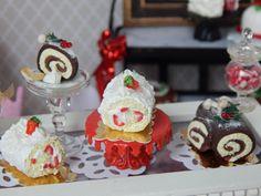 Miniature Roulade Holiday Cake Handmade by JansPetitPantry on Etsy