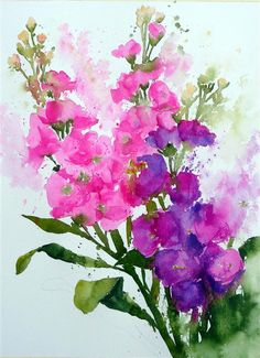 FAST AND LOOSE FLOWERS using WATERCOLOUR