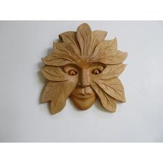 SALE Wood Sculpture Green Woman Art Wood Sculpture Wood Carving... (200 CAD) ❤ liked on Polyvore featuring wood