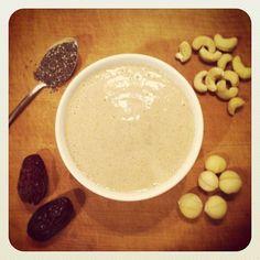 Cashew Macadamia Chia Cream http://begoodorganics.com/blogs/begoodness/7799607-cashew-macadamia-chia-cream