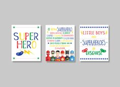 Superhero prints. Boys superhero decor. Superhero rules. Instant download PDF diy digital wall art.Kids bedroom Set of 3. Boy nursery print. by GrapevineDesignShop on Etsy Bedroom Prints, Nursery Prints, Superhero Rules, Teaching Displays, Kids Bedroom Sets, Digital Wall, Kids Prints, Playroom, Pdf