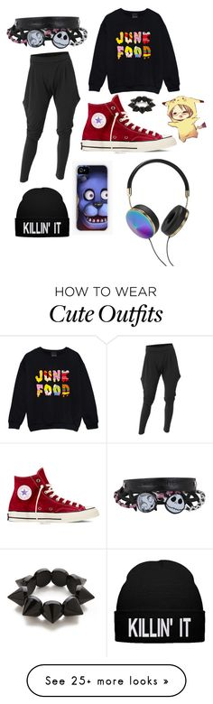 """""""Outfit 6 (Chilling at home)"""" by kwangminaee on Polyvore featuring Doublju, Converse, Adia Kibur and Frends"""