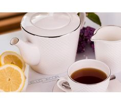Villa Italia Bari Platin - Zestaw do kawy/herbaty dla 12 osób Bone China, Villa, Tableware, Porcelain Ceramics, Dinnerware, Tablewares, Dishes, Fork, Place Settings