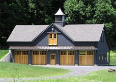 Whether you need storage space or are looking for custom living quarters, we can build you a garage or barn home to fit your needs. Pole Barn Garage, Pole Barn House Plans, Garage House Plans, Pole Barn Homes, Barn Plans, 5 Car Garage, Pole Barns, Garage Apartment Plans, Garage Apartments