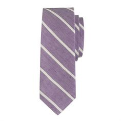 J.Crew - English linen tie in thin stripe