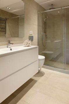 Brown Bathroom, Downstairs Bathroom, Ikea, Ceiling Tiles, Home Improvement, Decoration, Bathtub, Flooring, Architecture