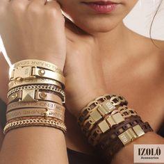 Amando as pulseiras de frases e com corte a laser da Izolô!  #pulseiras #inlove #izolo #acessorios #lindos #fashion