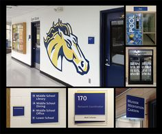 Entry - BEST INTERIOR CUSTOM SOLUTION - Breck School is a 100,000+ Sq/Ft Facility that houses a K-12 private school in Golden Valley, MN. This projects scope involved all aspects from conceptual design and wayfinding through implementation and install. It was to include interior and exterior signage to provide a cohesive solution for all spaces on campus.