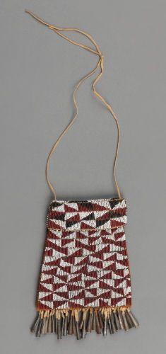 American Indian Art:Beadwork and Quillwork, An Apache Beaded Leather Pouchc. 1885 ...