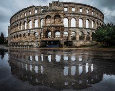 The Roman arena in Pula, Croatia