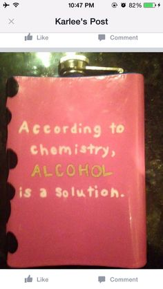 Chemistry alcohol flask painted