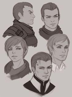 Detroit become human Captain Allen, Kara, Daniel, RK900 By: Vrihedd