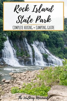 Rock Island State Park in Tennessee is known for it's iconic waterfall called Twin Falls. Places To See, Places To Travel, Travel Destinations, Travel Diys, Rock Island State Park, Tennessee Vacation, Tennessee Camping, Tennessee Attractions, Hiking