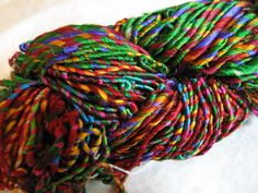 Stunning Fair Trade Recycled Sari Yarn ... must find a suitable pattern to show this off!