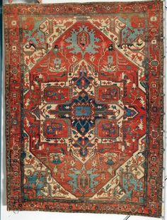 a Serapi Carpet, Northwest Persia, last quarter 19th century, 12 ft. 9 in. x 9 ft. 6 in.
