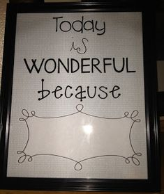 "Build classroom morale and positivity with free ""Today is Wonderful because"" poster!"