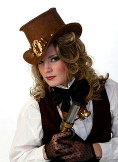 Mini Top Hat Steampunk Western Ladies Bullseye by TheBlondeSwan, $169.99