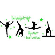 Gymnastic Silhouettes Stock Photo 8255644 Gymnastics