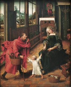 Master of the Legend of Mary Magdalene (sometimes called the Master of the Magdalen Legend) (German artist, fl 1480-1537) The Holy Family