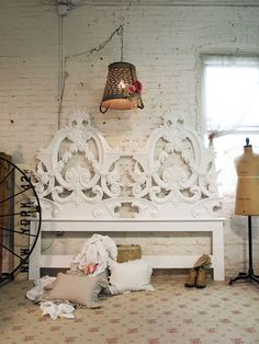 Painted Cottage Chic Shabby White Romantic by paintedcottages, $595.00