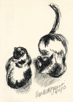 The Creative Cat - Daily Sketch: Fingerprint Cat
