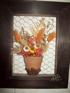 cuadro de flores secas - Buscar con Google