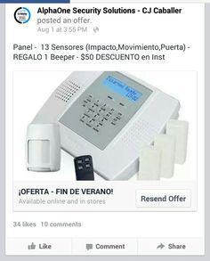 ¡¡ OFERTA - FIN DE VERANO !! | TIEMPO LIMITADO  @ Panel Honeywell Lynx Plus @ 10 Sensores de Impacto @ 2 Sensores de Puerta @ 1 Sensor de movimiento @ DESCUENTO: $ 50 de descuento en el precio de Instalación, configuración y adiestramiento. @ REGALO ESPECIAL: 1 Beeper  Para solicitar la oferta:http://eepurl.com/0djAT  Lláma HOY al 787-248-0333 y pregunta como los fondos disponibles costean éste sistema de#Alarmapara que NO tengas que invertir.  *Ciertas restricciones aplican*