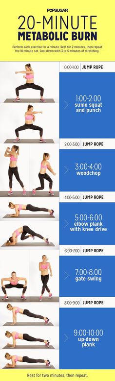 20-minute metabolic burn workout.