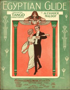 Egyptian Glide Oriental Tango Characteristic (1914). Alexander Maloof. Published by E.T. Paul Music Co., New York. The brothers William Austin Starmer and Frederick Waite Starmer illustrated innumerable covers dating from the early 1900s to the 1940s. Their work was of consistently high quality and they were turning out nearly a quarter of all large format covers from the late 1890s to around 1919.