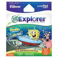 LeapFrog Explorer Learning Game - SpongeBob SquarePants - The Clam Prix
