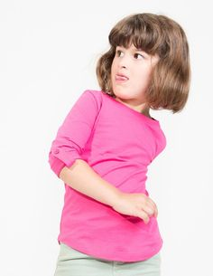 2-7 Years - Mini Girl's Long Sleeve Tabbed T